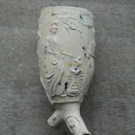 Bruidspaar, hielmerk WS, gemaakt in overgang naar 1900 door Van der Want