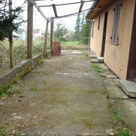 débarras d'une terrasse à Gray, Haute Saône, 70, APRÈS INTERVENTION....... entreprise de déblaiement-débarras AHLEN