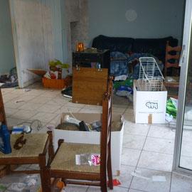 débarras d'une maison à Gray, Haute Saône, 70, AVANT INTERVENTION....... entreprise de déblaiement-débarras AHLEN