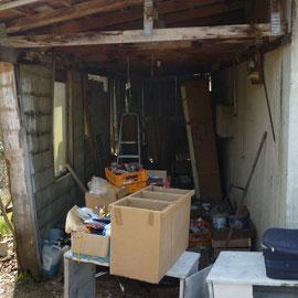 débarras d'un garage à Gray, Haute Saône, 70, AVANT INTERVENTION....... entreprise de déblaiement-débarras AHLEN