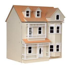 Maison de poupée en bois crème
