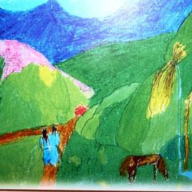 PAUL GAUGIN  Projekt   Pastell