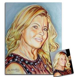 Ritratto di donna - Olio su tela 40X50