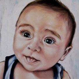 Ritratto di bambino - Olio su tela 30X40