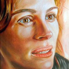 Ritratto di Julia Roberts - Olio su tela 30X40
