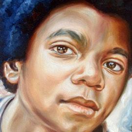 Ritratto di Michael Jackson bambino - Olio su tela 30X40