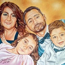 Ritratto di famiglia - Olio su tela 40X50