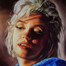 Ritratto di Marylin Monroe - Olio su tela 30X40