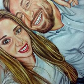 Ritratto di coppia - Olio su tela 40X50