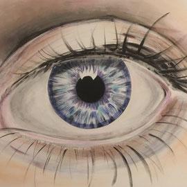 Big eye, Lack , Acryl auf Leinwand 150 x 100 cm