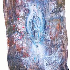 Nin, Lack, Acryl auf Pappmaché, 87 x 143 cm