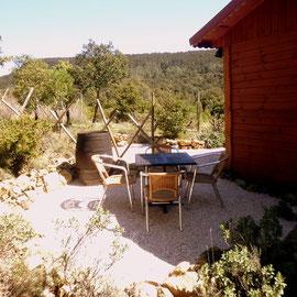 jardin ombragé gite corbières