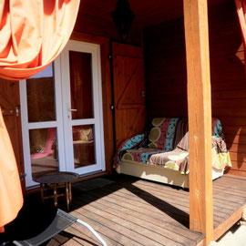 terrasse chalet maroc