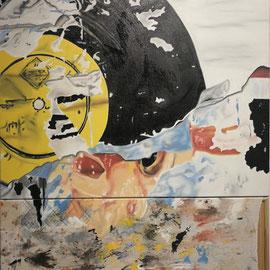 gma!, oil on canvas, 90 x 90 cm & 90 x 50 cm, 2018