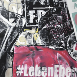#lebeneben, oil on canvas, 100 x 150 cm & 100 x 30 cm, 2018