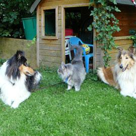 Feechen mit ihren Bodyguards; Juli 2007