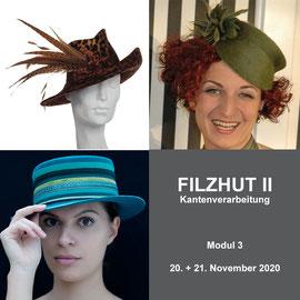 3. Modul - FILZHUT II - Christine Rohr Academy of Millinery and Textile Arts