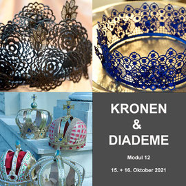 Modul 12 - KRONEN & DIADEME - Christine Rohr Academy of Millinery and Textile Arts