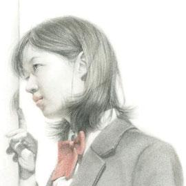 「片想ひーone-sided loveー」2017/03/04(F4 パステル/紙)