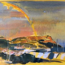 Oeillade d'amour - 2016 - Huile sur toile, 52x35 cm