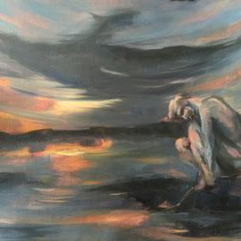 Profites de moi dernière lune - 2016 - Huile sur toile 65x50 cm