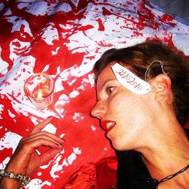"""""""Immer liegt was rum"""" – Nektar, München (Halloween 2010): Das Abendessen war lecker, keine Sorge und wie man weiß, habe ich es ja gut überlebt!"""