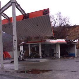 ガソリンスタンドの様子(宮城県 女川)