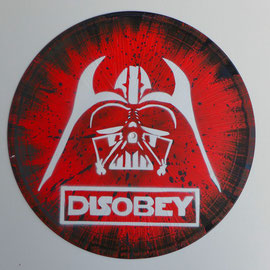 star wars dark vador disque vinyle pochoir dcoratif - Pochoir Dark Vador