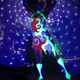 Lasershow in der Landeshauptstadt Wiesbaden - Fantômes de Flammes