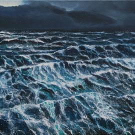 Wellen soweit das Auge reicht, 2018, 100x70cm