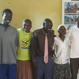 Membres d'un comité local de protection des enfants, Sud Soudan
