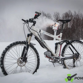 electric bike on snow