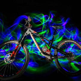 light painting bike