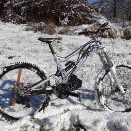 vtt electrique neige