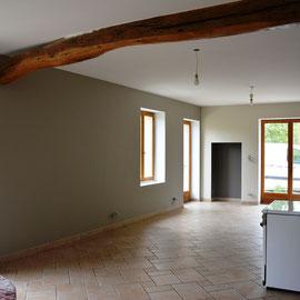 """Enduisage repassé""""ratissage """"murs avec peinture ambiance mat"""