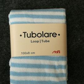 Tubolare righe azzurre