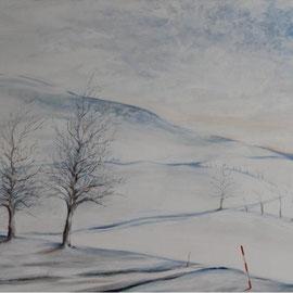 Fränkischer Winter, Acryl,100x120, 2010