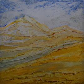 Himmelwärts, Acryl a. Polyester, 80x80, 2020