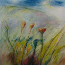 Lilien, Acryl, 80x80, 2009