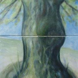 Linde, 50x100 zweiteilig, Acryl, 2014