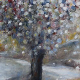 Nasser Schnee, Acryl, 50x50, 2009