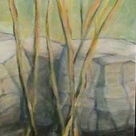 Steine, 50x50x3, Acryl, 2014