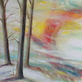 Wintersonne, Acryl-Mischtechnik, 60x90, 2005