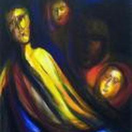 Gesichter, Acryl, 70x80, 2000
