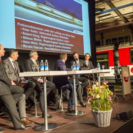 Podium mit Zentralschweizer Vertretern