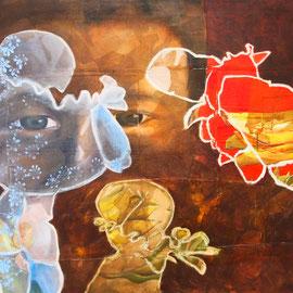 L mut i la popes, 170 x 100 cm, Acryl/Ölpastell auf Leinwand, 2011