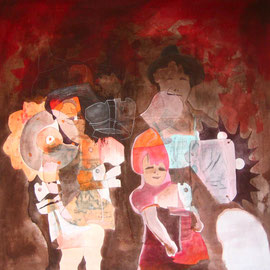 Heimat, 99 x 99 cm, Acryl auf Leinwand, 2008