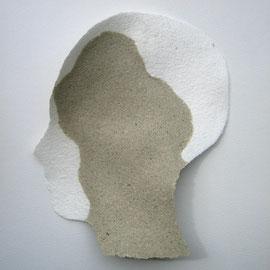 13 x 17 cm, handgeschöpfter Kopf