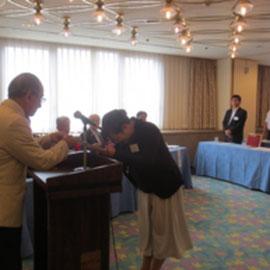 卒塾証書授与 塾生代表:島岡 妙子 氏