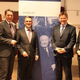 v.l.n.r.: Dietrich Wersich, Hjlamar Stemmann, Rainer Schulz, Andreas M. Klein